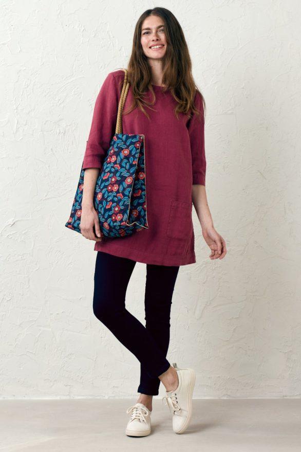 Seasalt Cornwall nákupní taška camellia