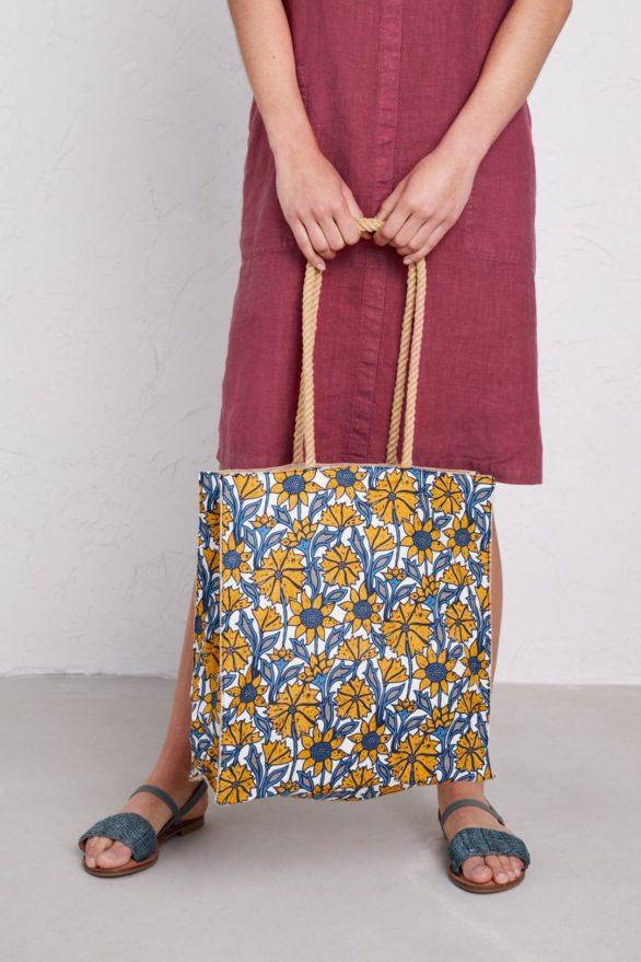 Seasalt Cornwall nákupní taška honeysuckle