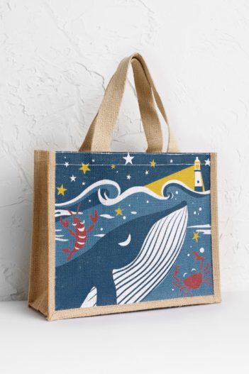 Seasalt Cornwall jutová taška whale