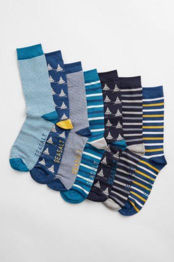 Seasalt Cornwall dárkové balení bambusových ponožek shipshape