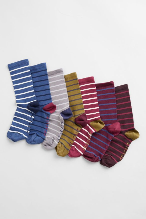 Seasalt Cornwall dárkové balení bambusových ponožek lewes