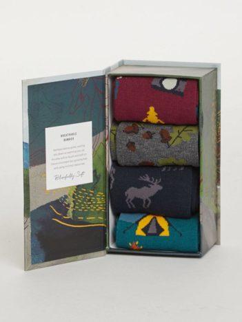 Thought dárkové balení pánských ponožek camper