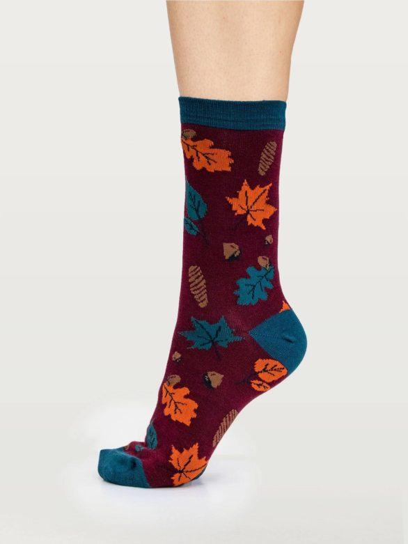 Thought dárkové balení dámských ponožek autumn leaves