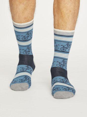 Thought bambusové ponožky bicycle modré