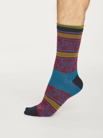 Thought bambusové ponožky bicycle červené