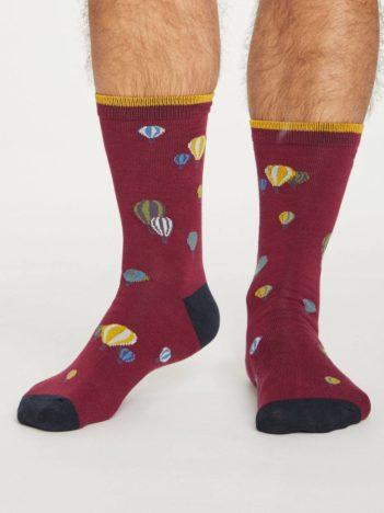 Thought bambusové ponožky explorer červené