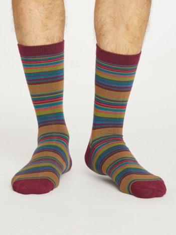 Thought bambusové ponožky kennet červené