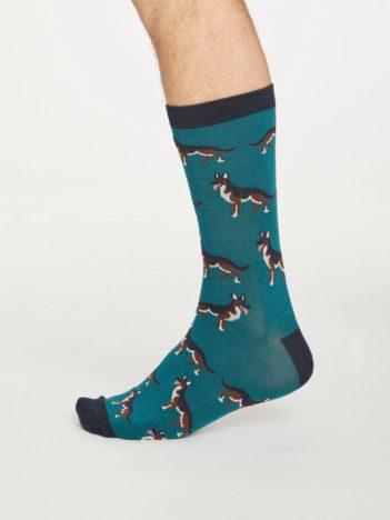 Thought bambusové ponožky hound zelené
