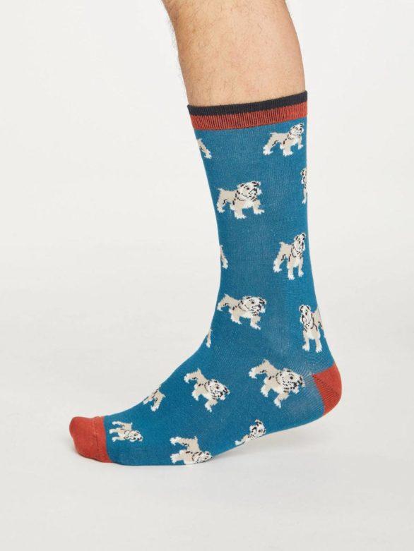Thought bambusové ponožky hound světle modré