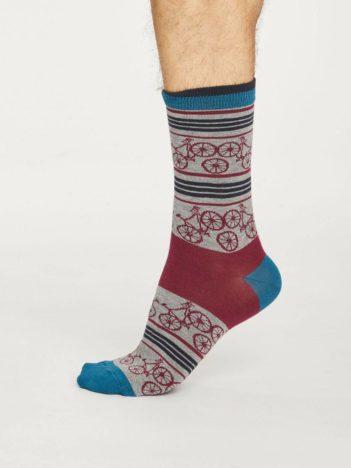 Thought bambusové ponožky bicycle šedé