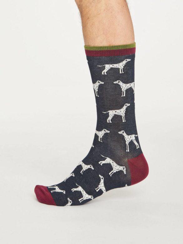 Thought bambusové ponožky hound tmavě modré