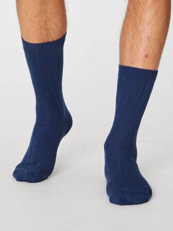 Thought konopné ponožky hero modré