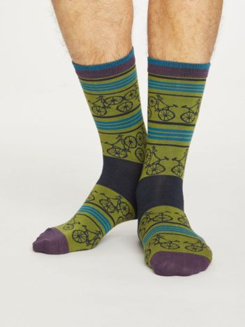 Thought bambusové ponožky bicycle olivové