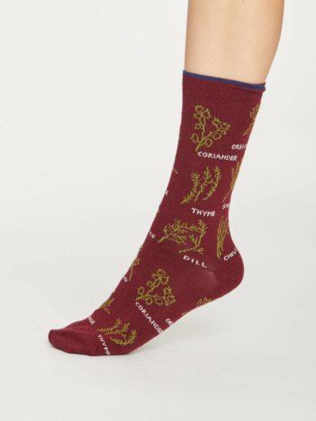 Thought bambusové ponožky herby červené