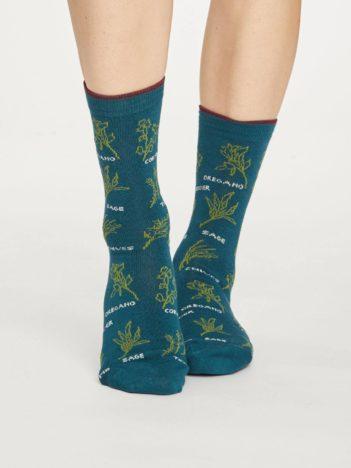 Thought bambusové ponožky herby zelené