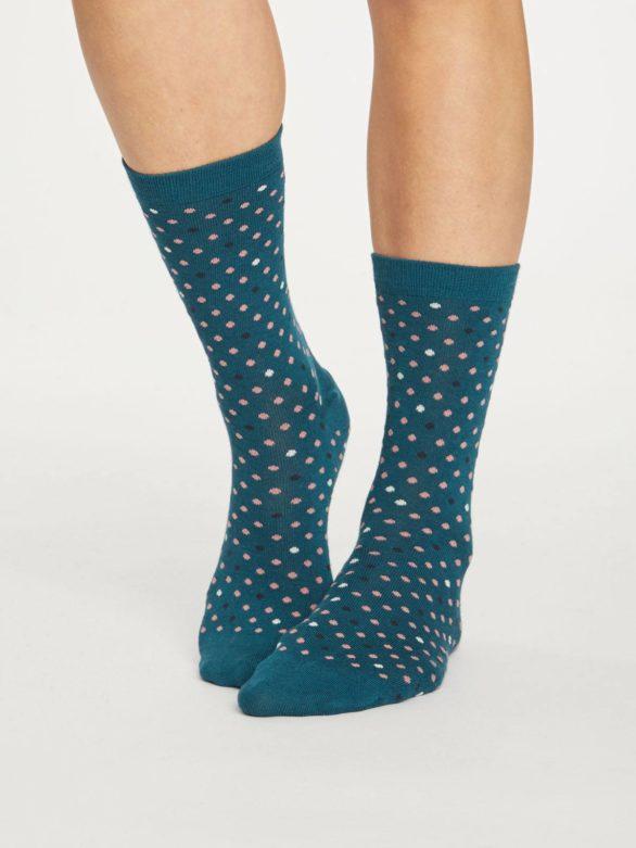 Thought bambusové ponožky spotty zelené