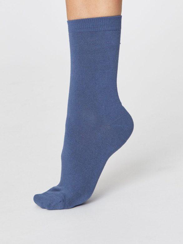 Thought bambusové ponožky jackie modré