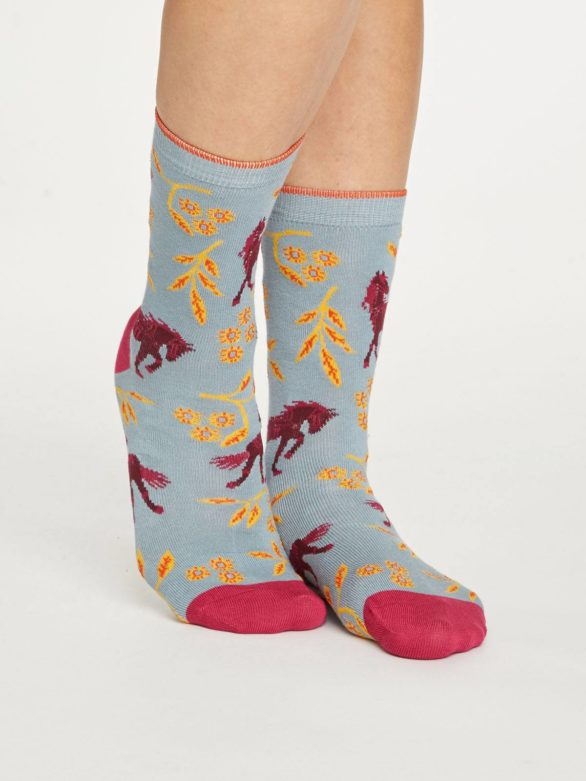 Thought bambusové ponožky filly světle modré