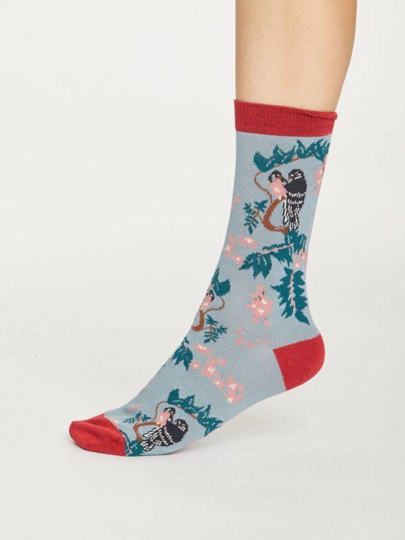 Thought bambusové ponožky love bird světle modré