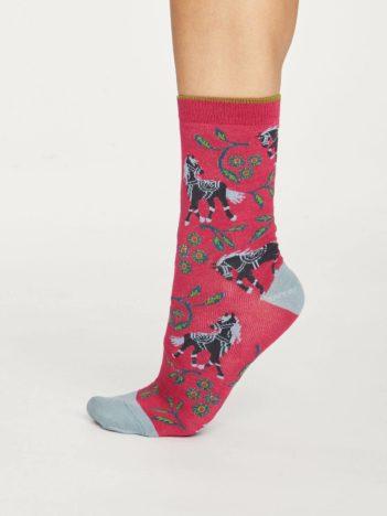Thought bambusové ponožky filly růžové