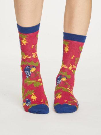 Thought bambusové ponožky love bird růžové