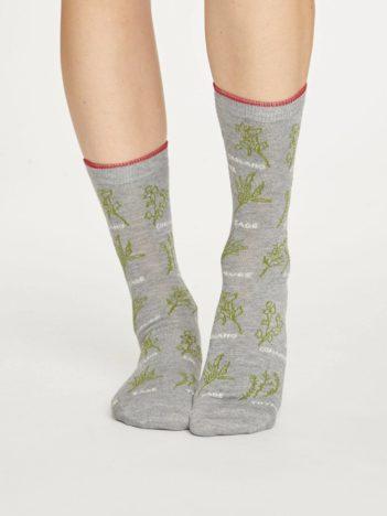 Thought bambusové ponožky herby šedé