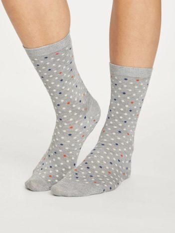 Thought bambusové ponožky spotty šedé