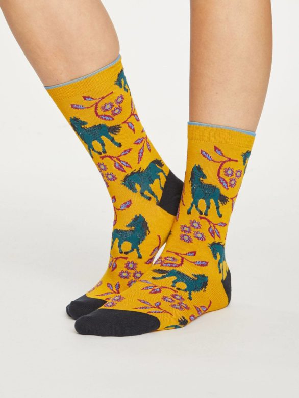 Thought bambusové ponožky filly žluté