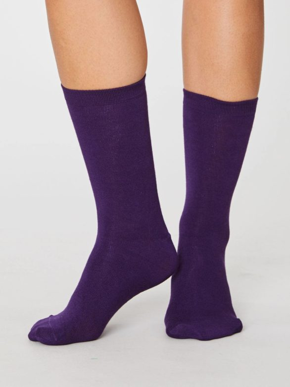 Thought bambusové ponožky jackie fialové