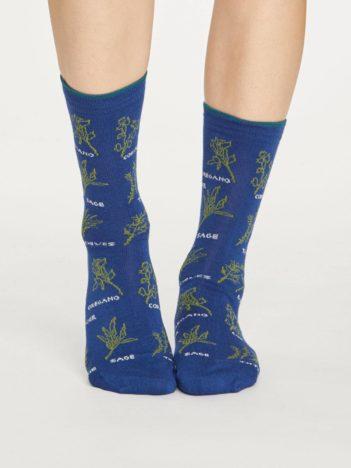 Thought bambusové ponožky herby modré