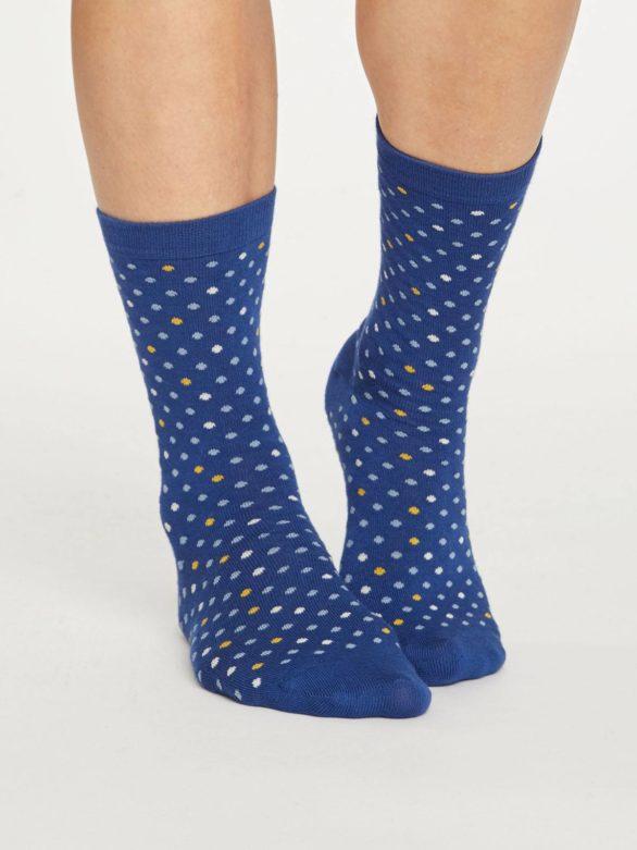 Thought bambusové ponožky spotty modré