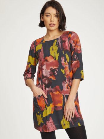 Thought tencelové tunikové šaty kala
