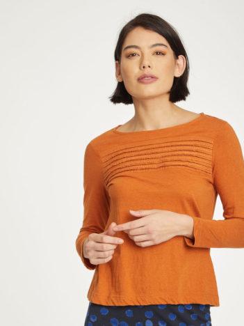 Thought top margit z bio bavlny oranžový