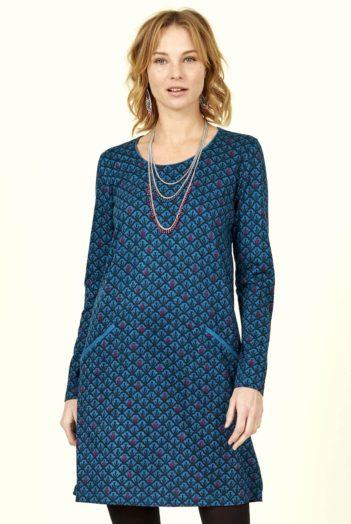 Nomads tunikové šaty art deco modré