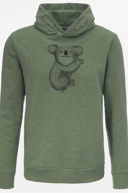 Greenbomb mikina z bio bavlny koala khaki