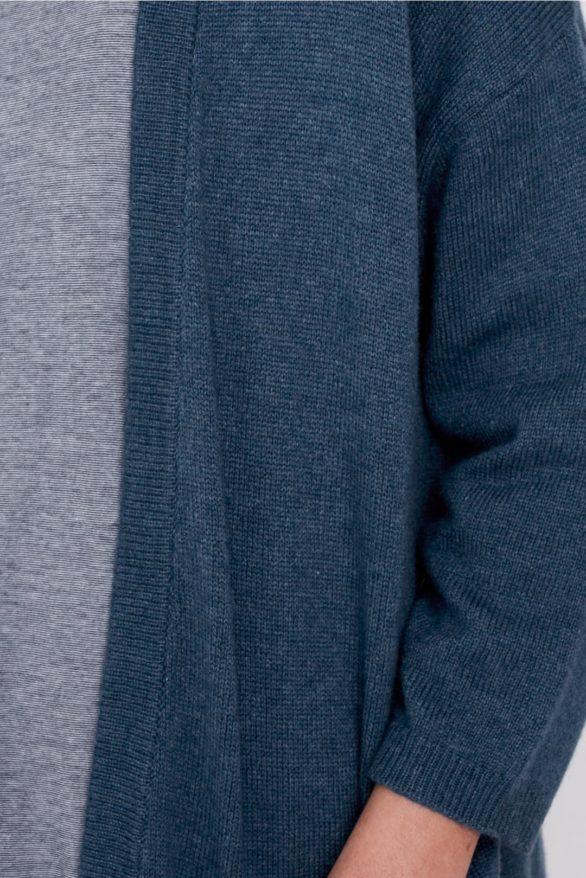 Seasalt Cornwall vlněný kardigan couplet modrý