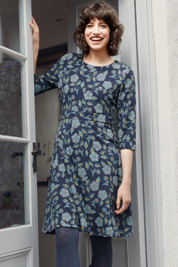 Seasalt Cornwall bambusové šaty longor logan flower