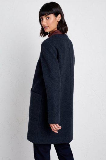Seasalt Cornwall vlněný kabát charcoal burner modrý