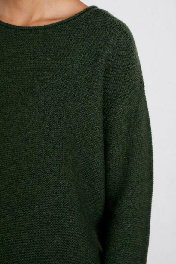 Seasalt Cornwall merino svetr fruity zelený