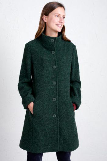Seasalt Cornwall vlněný kabát falmouth dawn zelený
