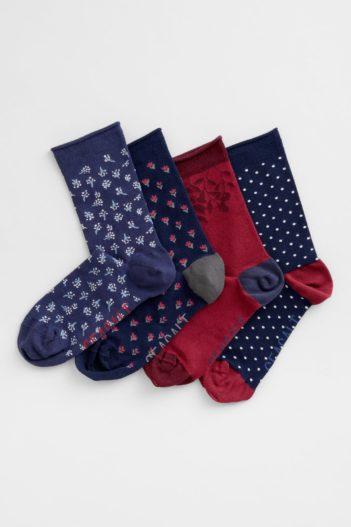 Seasalt Cornwall dárkové balení bambusových ponožek oxlip mix