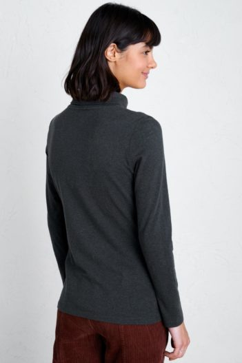 Seasalt Cornwall top z bio bavlny landing tmavě šedý
