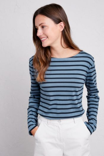 Seasalt Cornwall top sailor z bio bavlny breton magpie