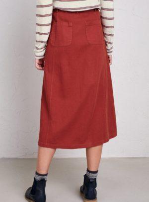 Seasalt Cornwall sukně se lnem screen test červená