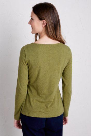 Paala top z bio bavlny easel olivový