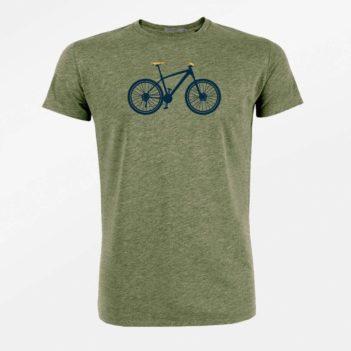 Thought tričko z bio bavlny mountain bike khaki