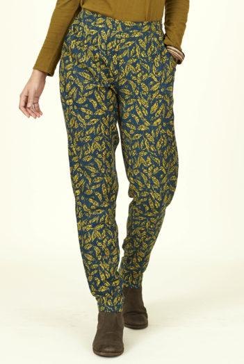 Nomads lyocelové kalhoty okrové