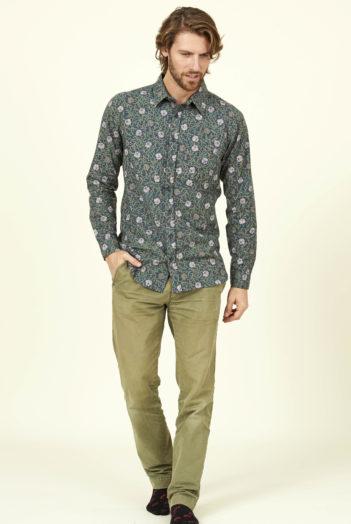 Nomads pánská košile botanical modrá