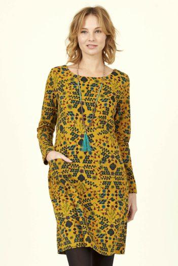 Nomads tunikové šaty bloomsbury horčicové