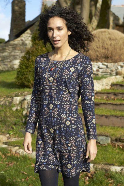 Nomads tunikové šaty bloomsbury modré